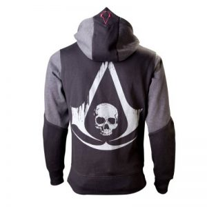 Assassins Creed IV Black Flag sweat à capuche veste Kappu grande impression sur le dos de la marque Assassins-Creed image 0 produit