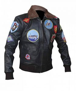 Flesh & Hide F&H Men's Top Gun Pete Maverick Tom Cruise Bomber Jacket de la marque Flesh-Hide image 0 produit