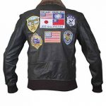 Flesh & Hide F&H Men's Top Gun Pete Maverick Tom Cruise Bomber Jacket de la marque Flesh-Hide image 3 produit