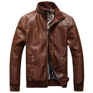 Homme Rétro Classique Automne Hiver Manteaux En Cuir Veste Chaud Épais Manteaux Biker Moto Blousons Mens Vintage Winter PU Leather Jacket de la marque SBOYS image 0 produit