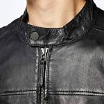 Kings on Earth Veste en Cuir avec Fermeture Éclair Homme de la marque Kings-on-Earth image 2 produit