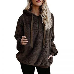 Reaso Sweat Shirt Hooded Sports Femme Automne Tops à Manches Longues Dames Hiver Rayé Sweat-Shirt Coton Sweats à Capuche Blouson Col Rond Casual Pull Elegant Chemisier Streetwear de la marque Reaso-Robe image 0 produit